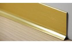 Aluminium plint 60x10 mm Geborsteld Goud