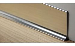 Aluminium plint 40x10 mm Gepolijst