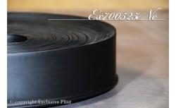 Zachte PVC plint 70 mm (Zwart)