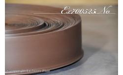 Zachte PVC plint 70 mm (Walnoot)