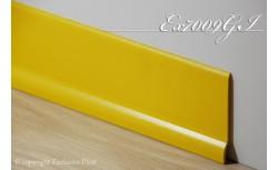 Harde pvc plint 70 x 9 mm (Geel)