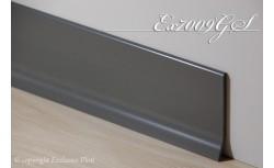 Harde pvc plint 70 x 9 mm (Donker Grijs)