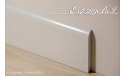 Harde pvc plint 75 x 9 mm (Wit)