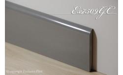 Harde pvc plint 75 x 9 mm (Licht grijs)