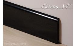 Harde pvc plint 75 x 9 mm (Zwart)