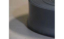 Zachte PVC plint 95x27 mm (Zwart)