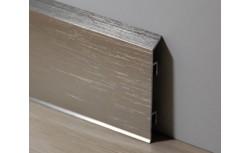 Aluminium plint 70x10 mm Geborsteld