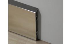 Aluminium plint 70x10 mm Gepolijst